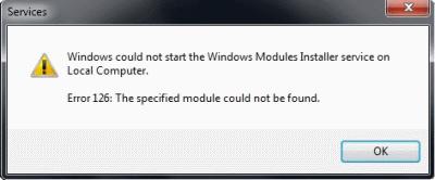Ошибка 126: не найден указанный модуль. Как исправить ошибку?